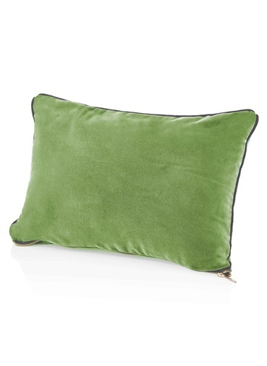 The Mia Kadife Yastık 50 x 30 Cm - Yeşil Yeşil